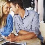 Kærestepar nyheder hinandens selskab